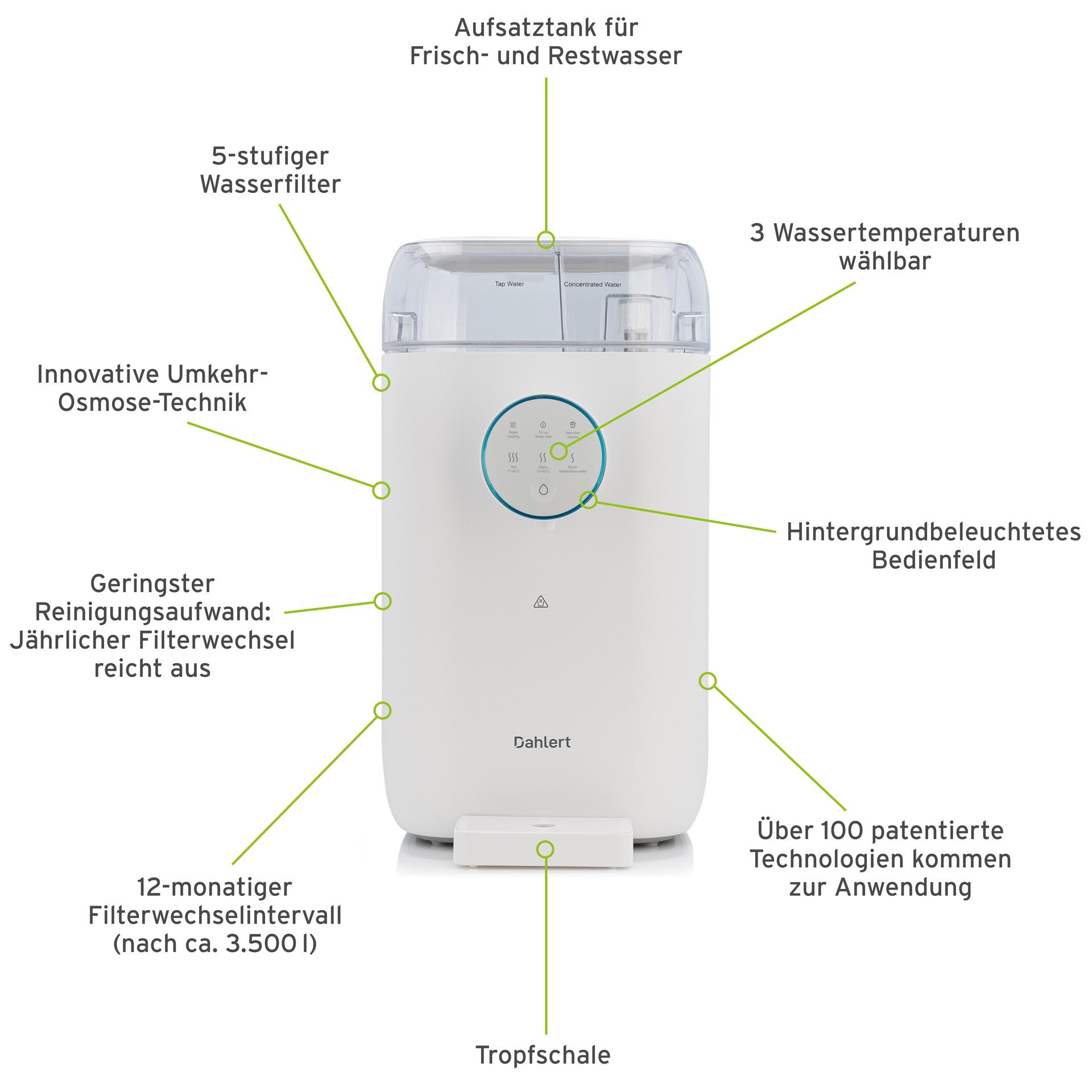 Dahlert Wasserfilter DT-WP-20 Weiß mit Schweizer Adapter