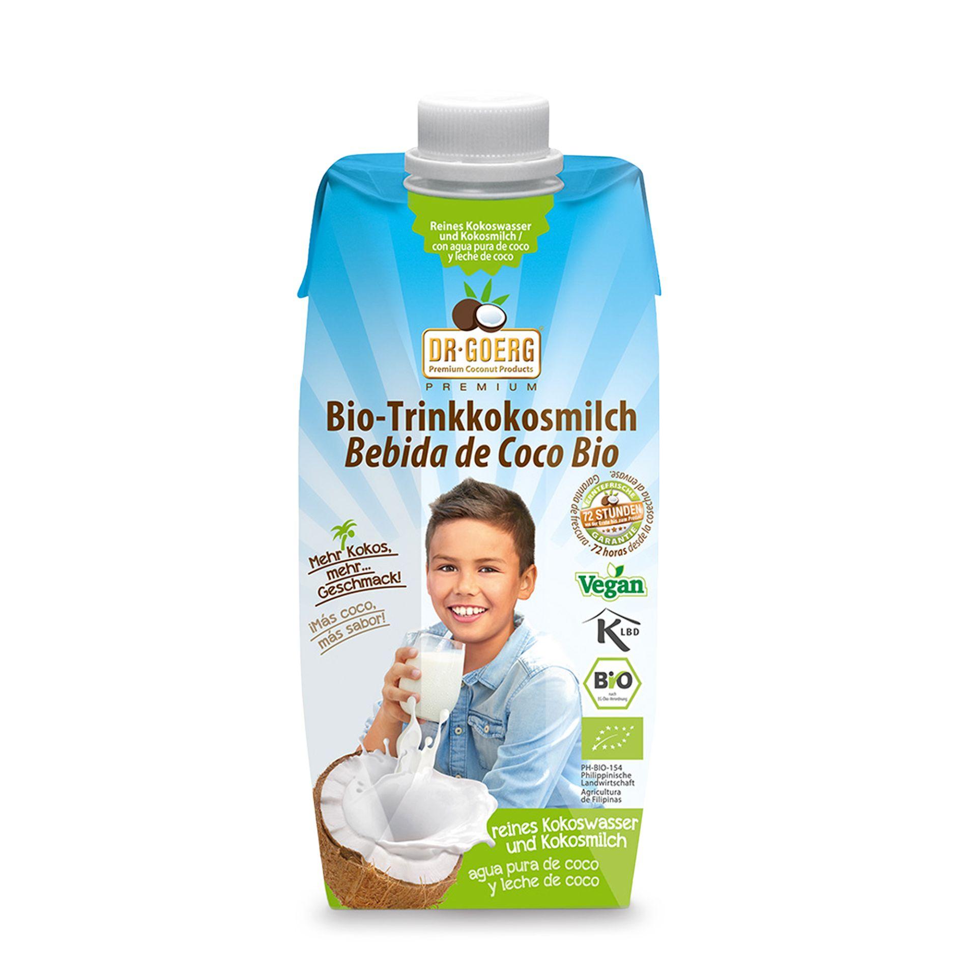 Dr Goerg Trinkkokosmilch im Tetrapak 2er Pack