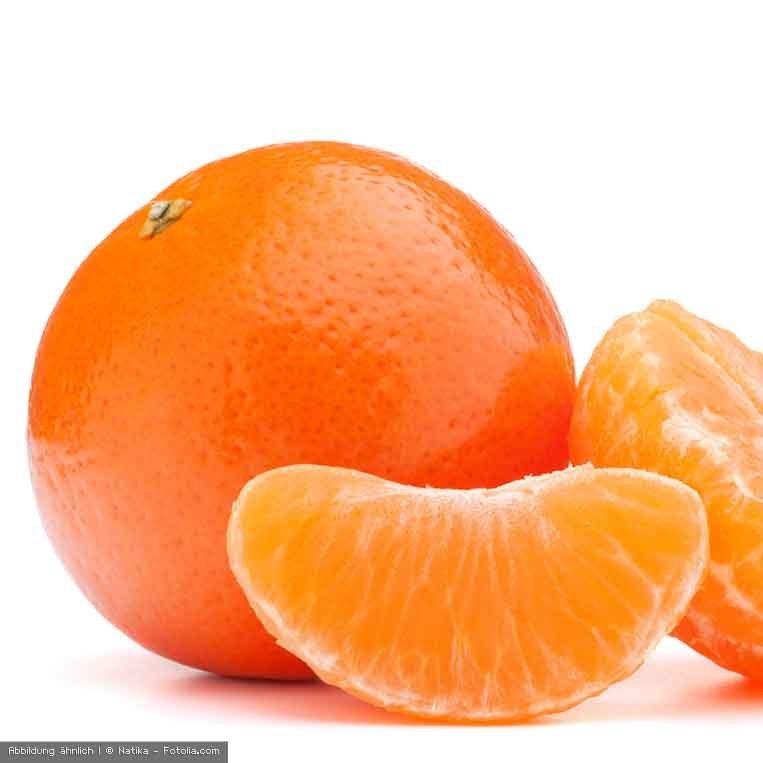 Tangerine geschaelt und ungeschaelt