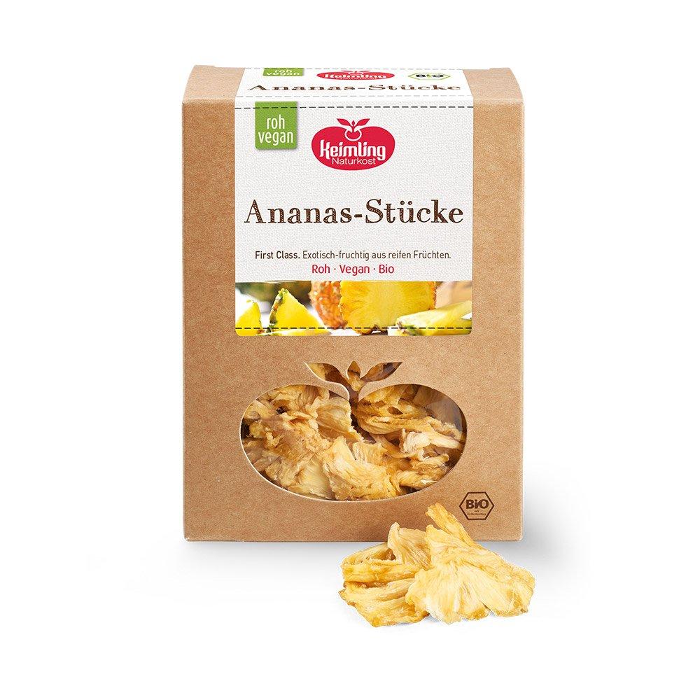 Rohkost-Ananas-Stuecke