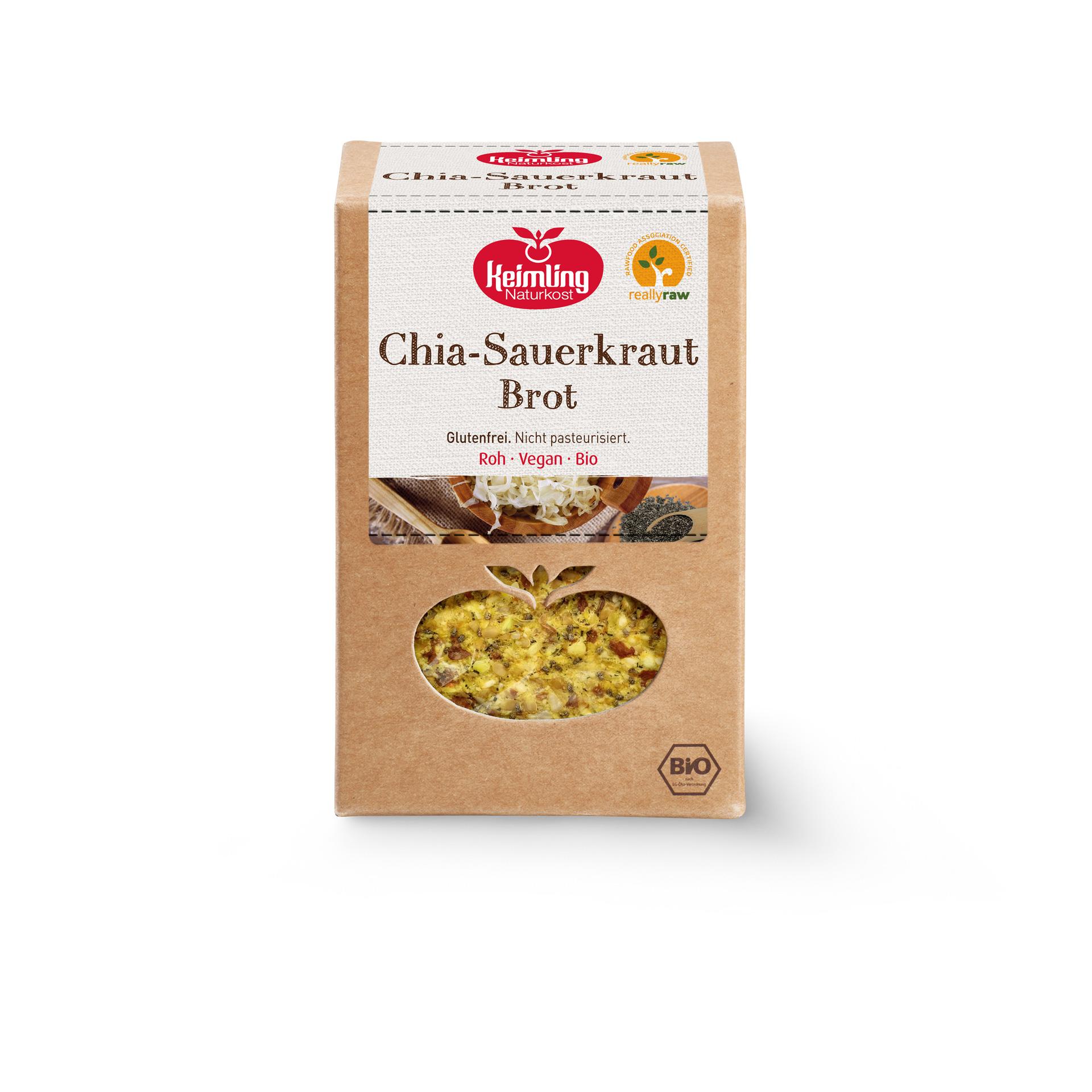 Chia-Sauerkraut Brot von Keimling Naturkost, really-raw zertifiziert
