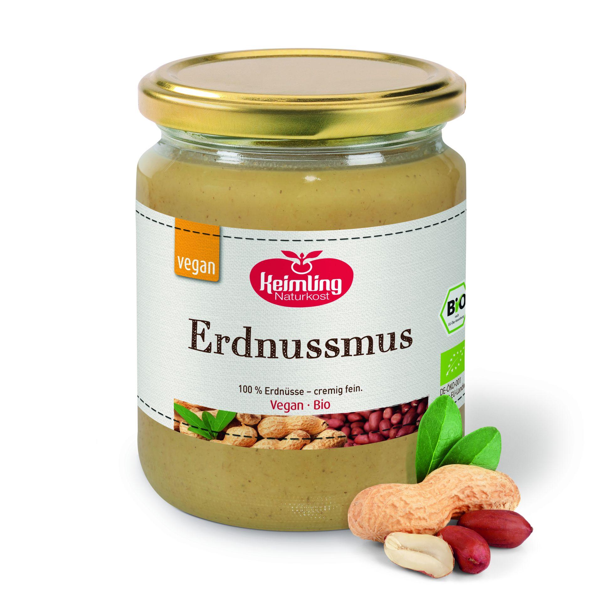 Erdnussmus geröstet, bio 500 g