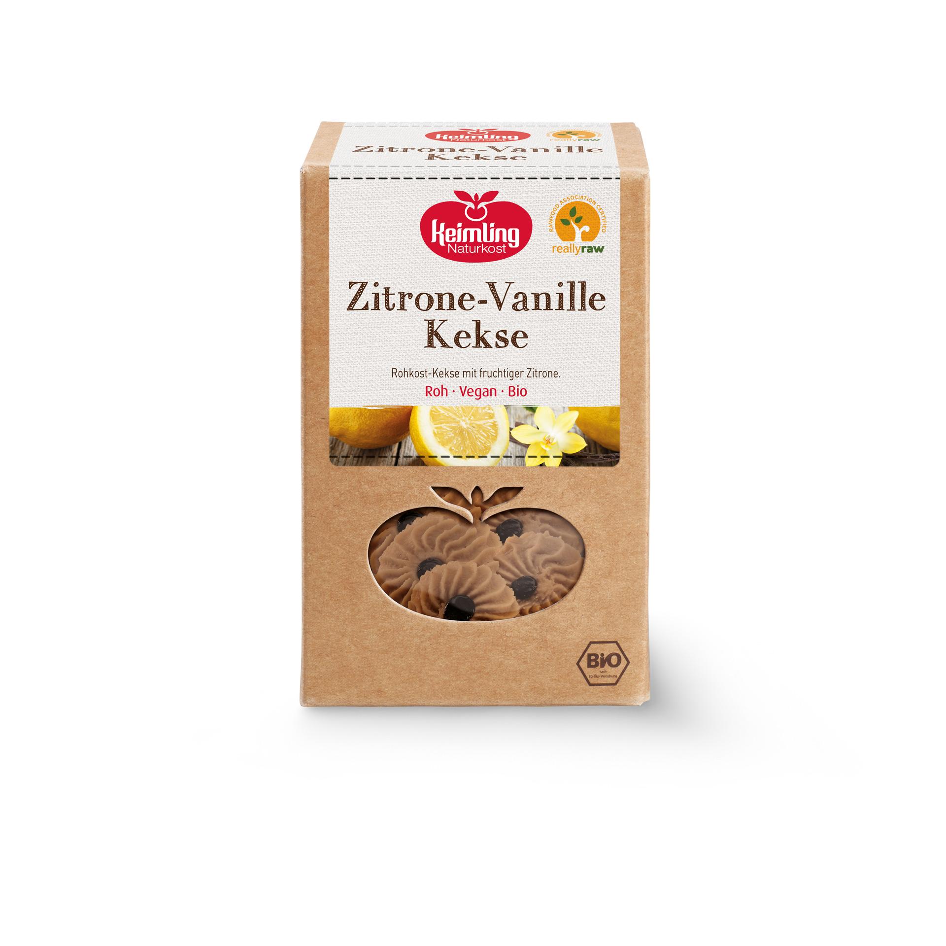 Zitrone-Vanille Kekse von Keimling Naturkost, really-raw zertifiziert