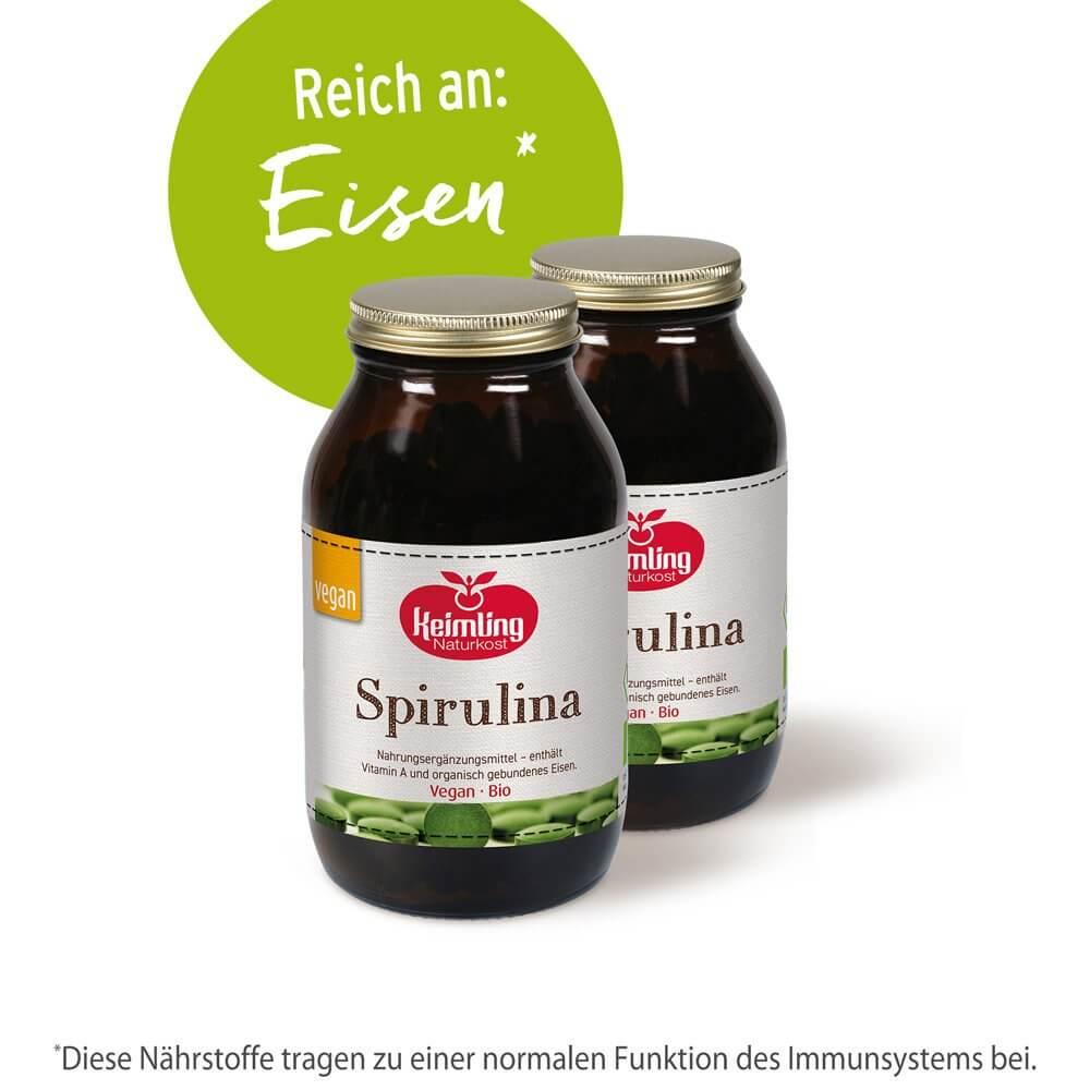 Bio-Spirulina - reich an Eisen