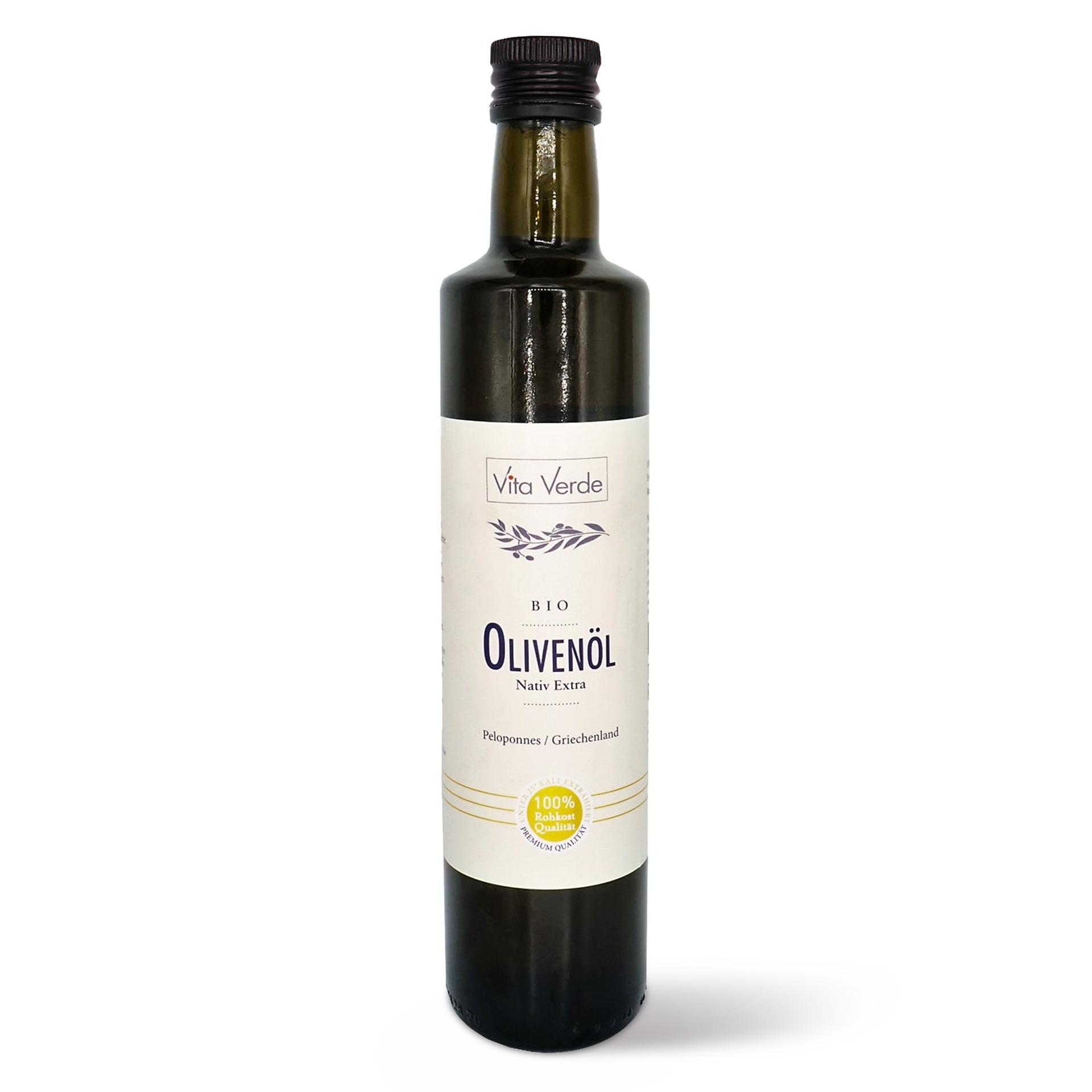 Vita Verde BIO Olivenöl Peloponnes extra nativ in Rohkost Qualität