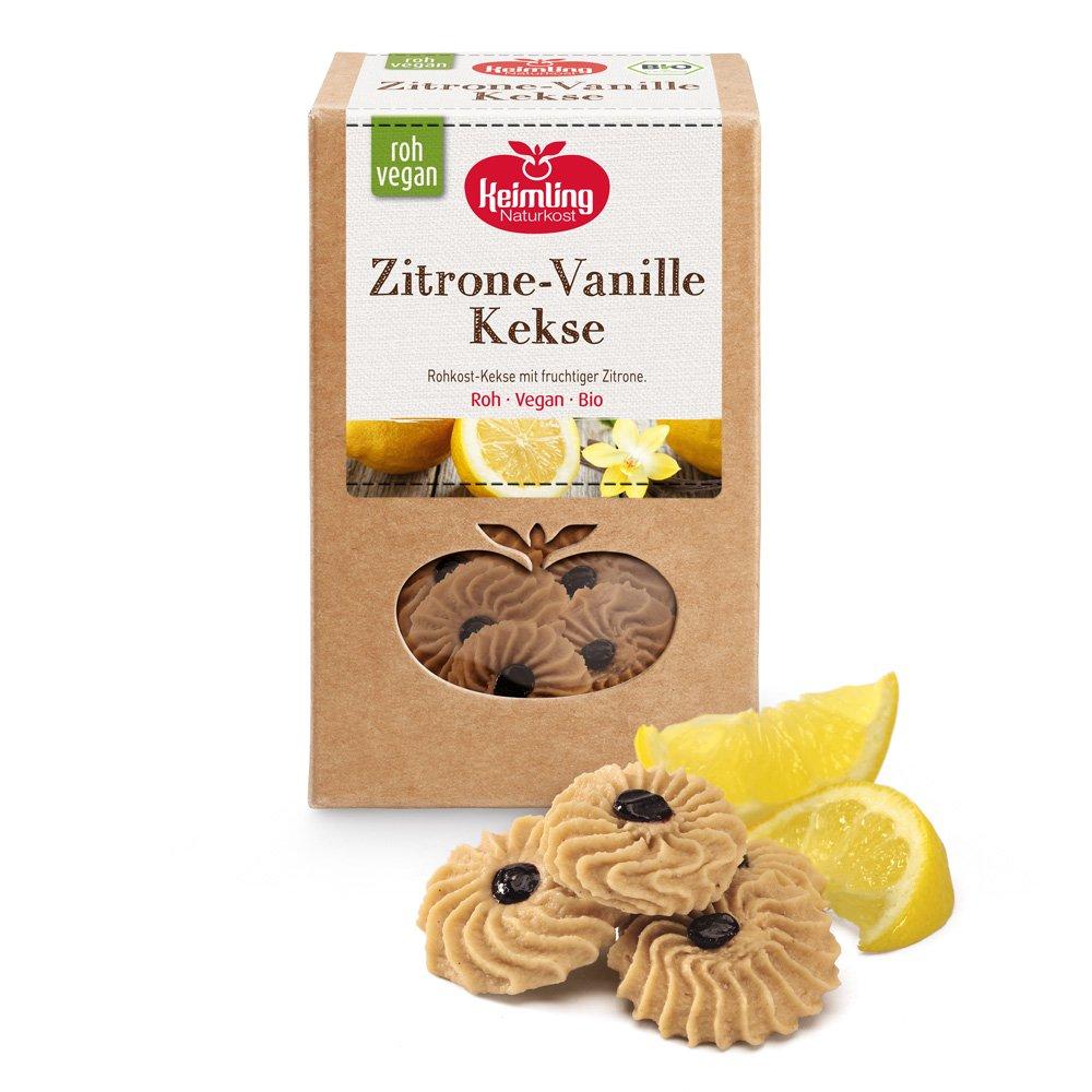 Zitrone-Vanille Kekse mit Verpackung