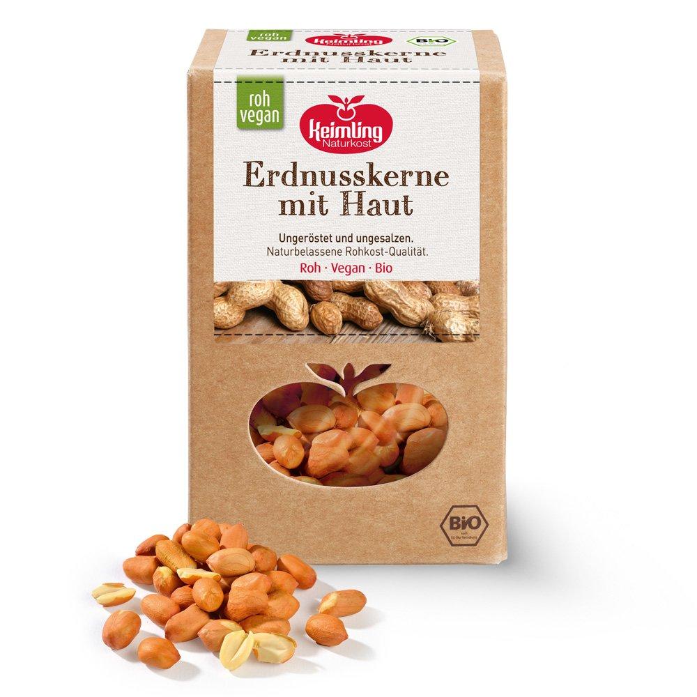 Erdnüsse mit Haut, bio 600 g
