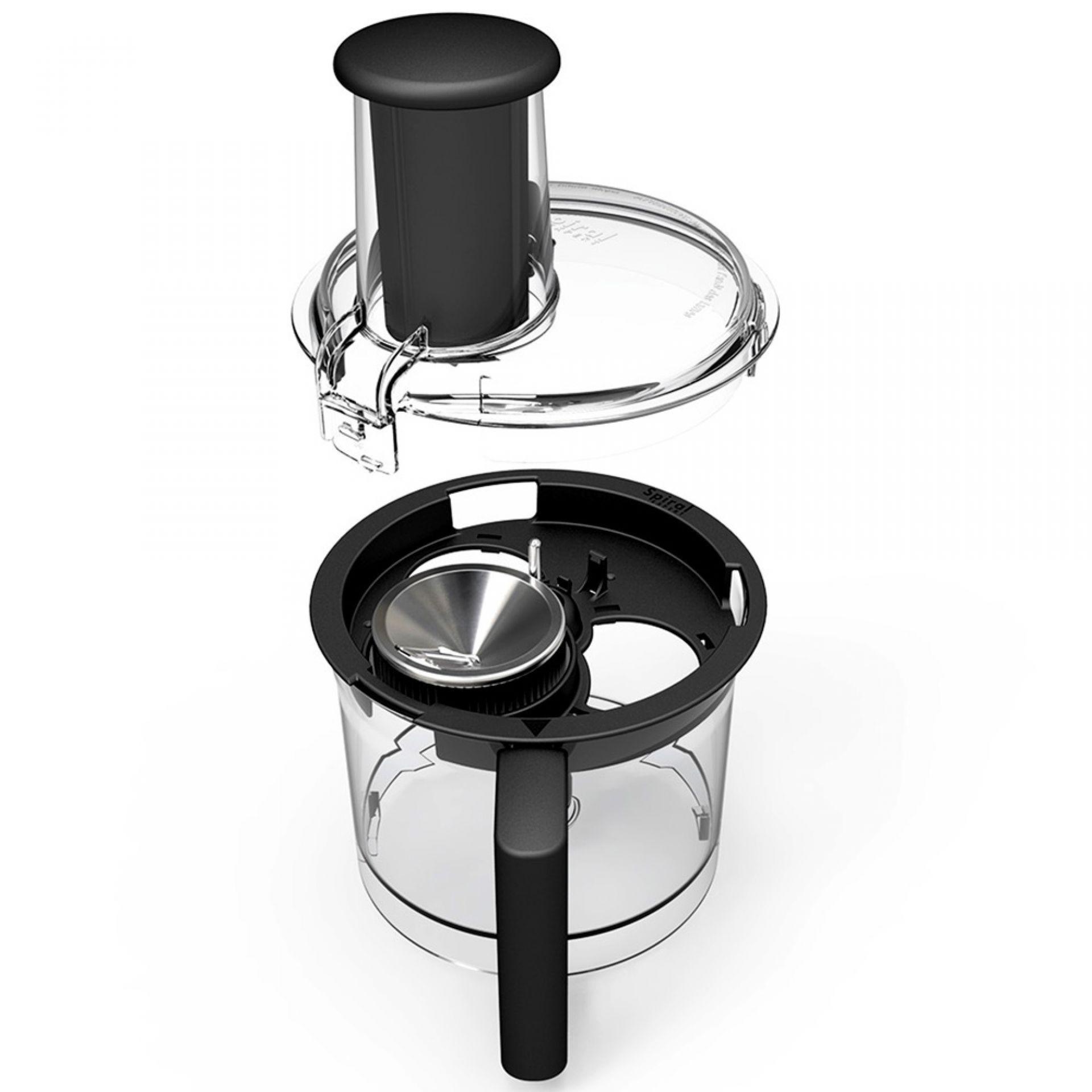 Magimix Spiral Expert: Ansicht Zusammensetzen der Einzelteile
