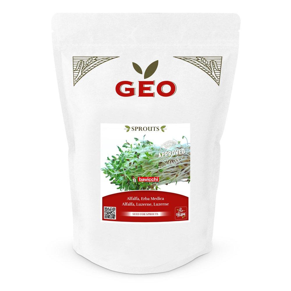 Geo Sprouts Alfalfa Keimsaaten in Verpackung