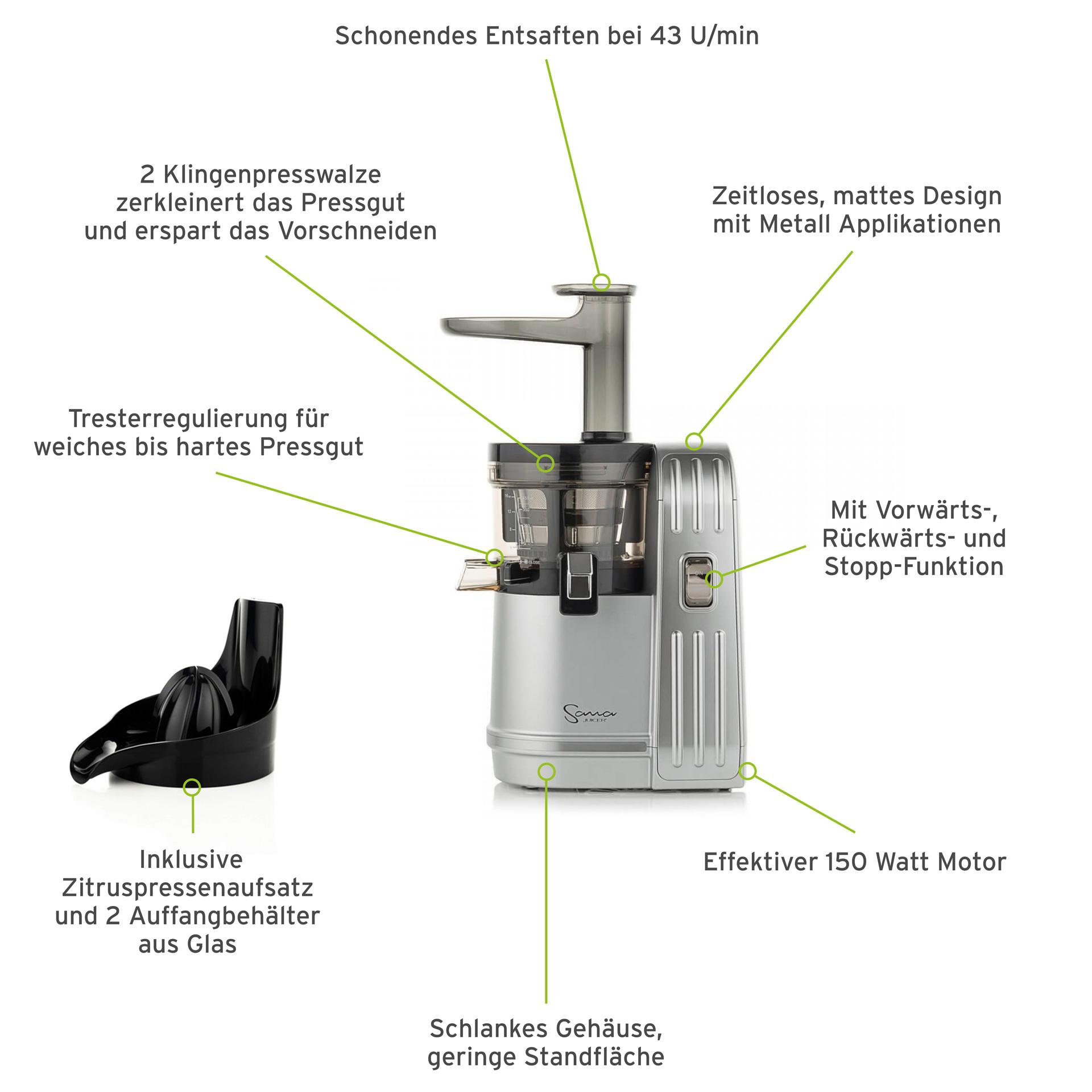 Sana Juicer EUJ- 828 rot - schweizer Stecker