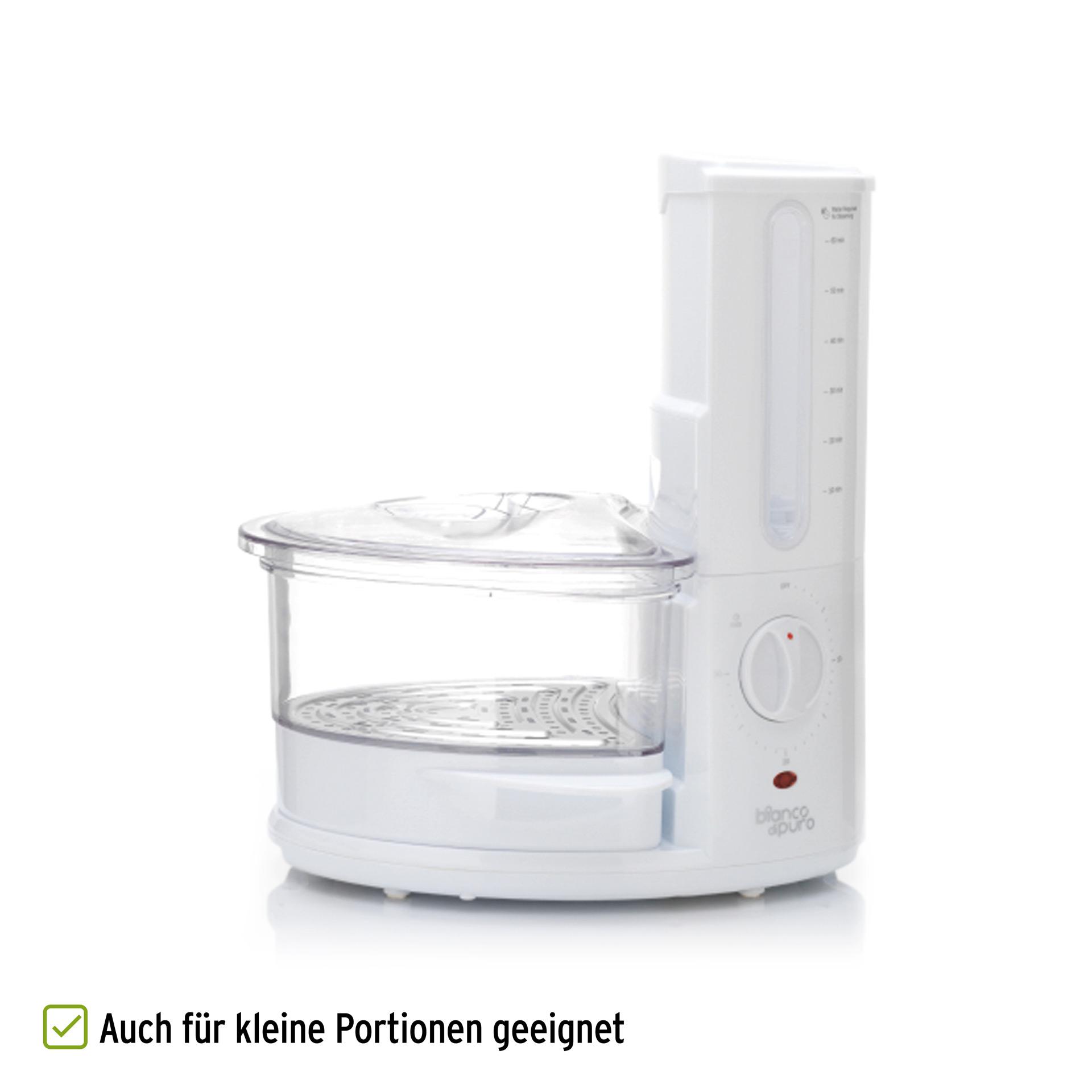 Bianco Rapido Dampfgarer auch für kleine Portionen geeignet