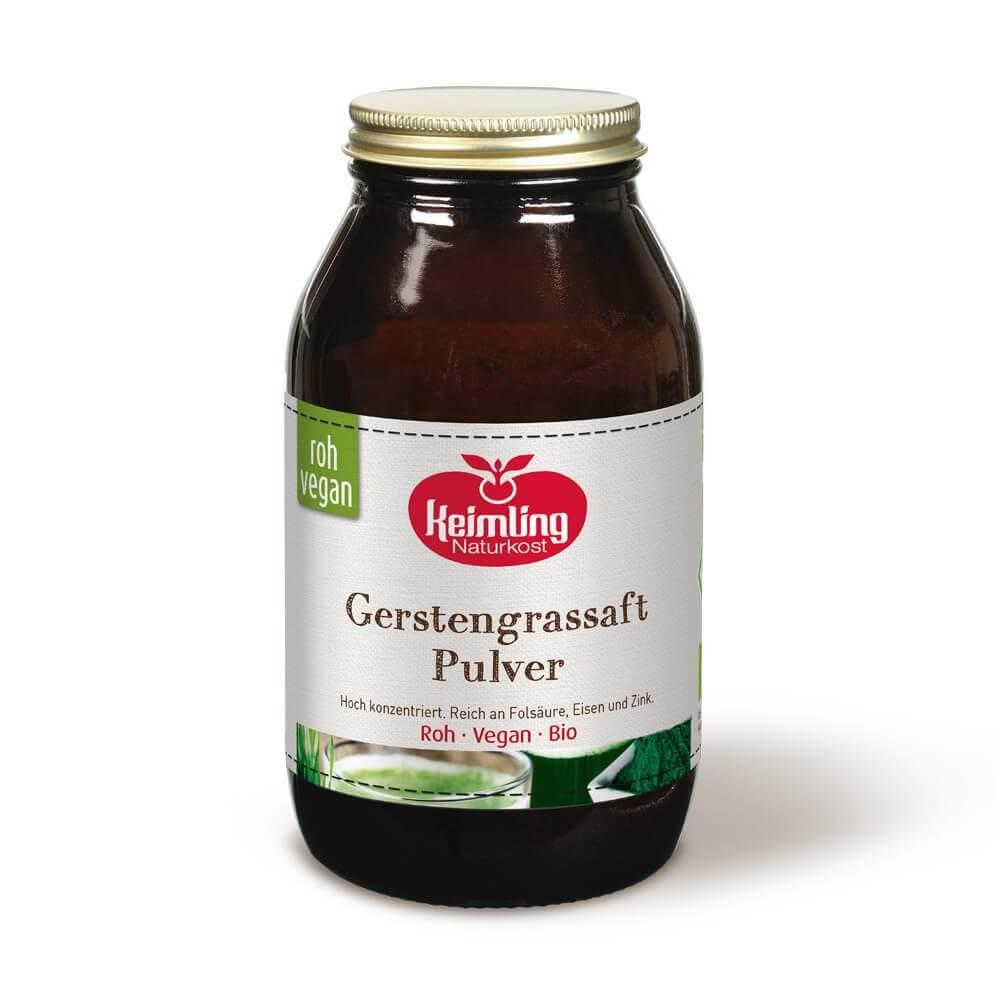 Gerstengrassaft-Pulver roh und vegan