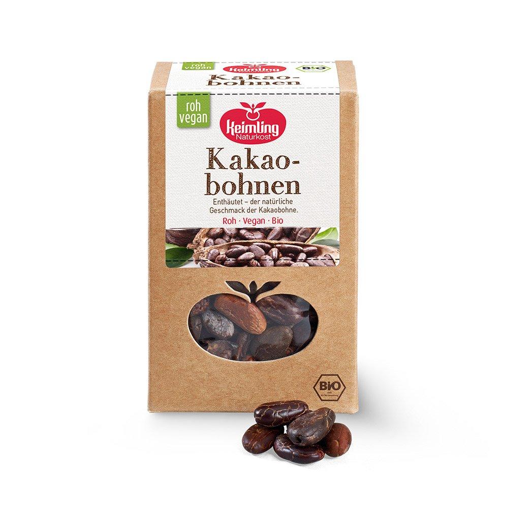 Kakaobohnen ohne Haut mit Verpackung