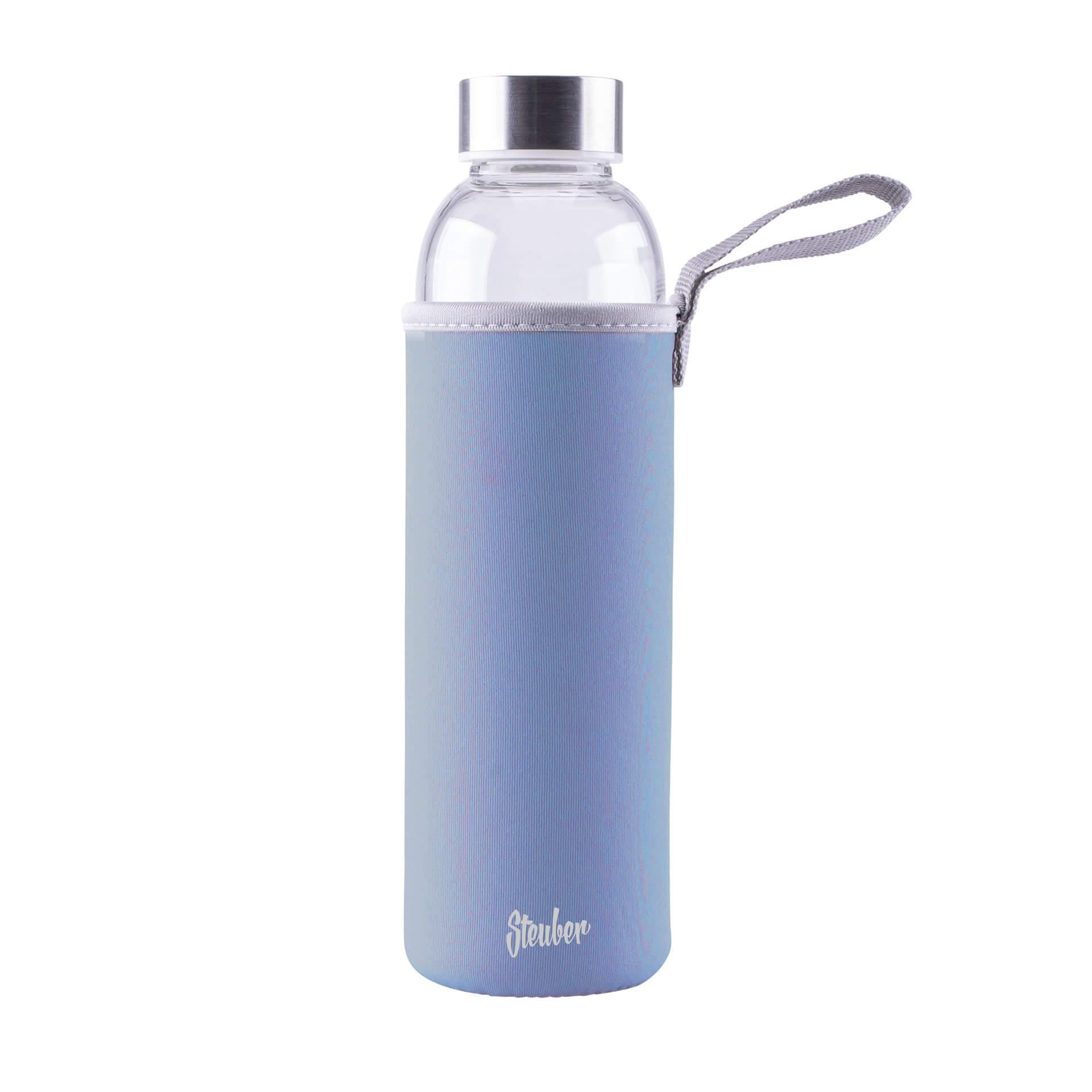 Steuber Glastrinkflasche Blau