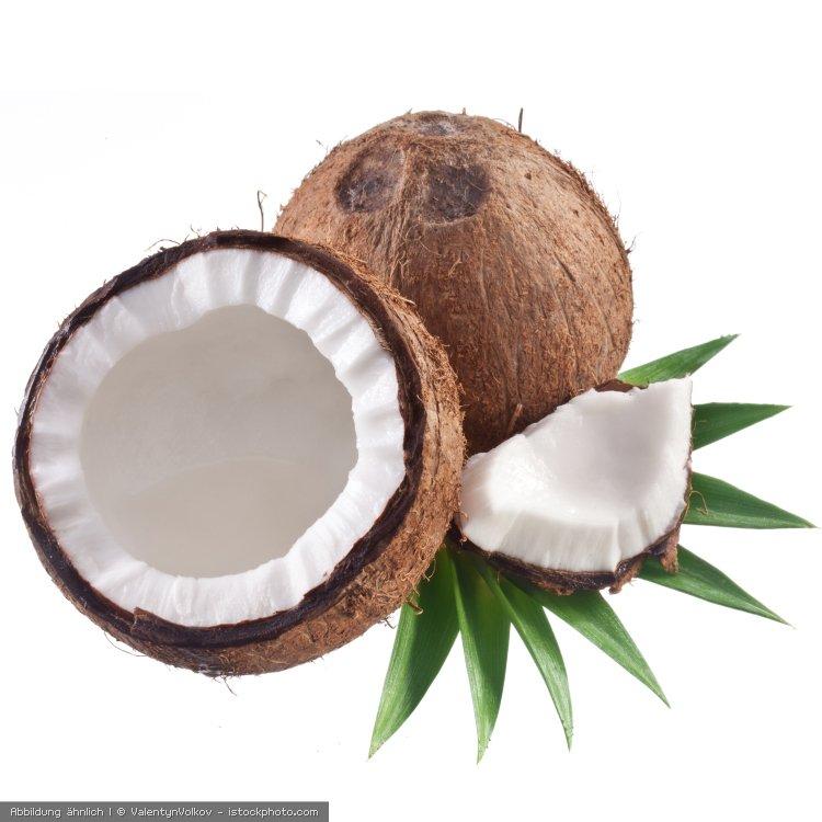 geoeffnete Kokosnuss