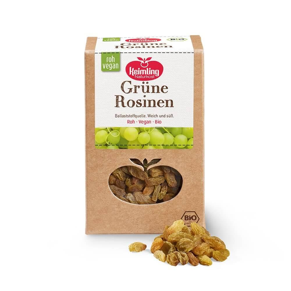 Grüne Rosinen bio 500 g